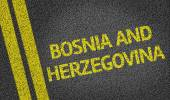 Bosnia and Herzegovina written on road — Stock Photo