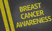 Breast Cancer Awareness written on road — Stock Photo