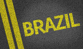 Brazil written on road — Stock Photo