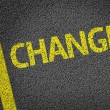 Changes written on road — Stock Photo #54640755
