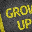 Grow Up written on the road — Stock Photo #54645075