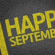 Happy September written on the road — Foto Stock #54645213
