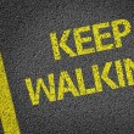 Keep Walking written on the road — Stock Photo #54646797