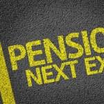 Постер, плакат: Pension Next Exit written on the road