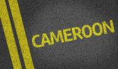 Cameroon written on road — Stock Photo