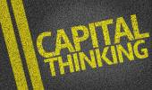 Capital Thinking written on road — Stock Photo