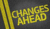 Changes Ahead written on road — Stock Photo
