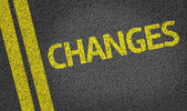 Changes written on road — Stock Photo