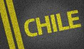 Chile written on road — Stock Photo