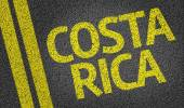 Costa Rica written on road — Stock Photo