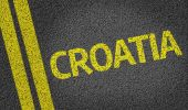 Croatia written on road — Stock Photo