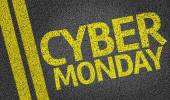 Cyber Monday written on road — Stock Photo
