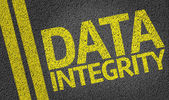 Data Integrity written on road — Stock Photo