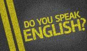 Do you speak english? written on road — Stock Photo