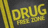 Drug Free Zone written on the road — Stock Photo