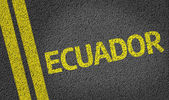 Ecuador written on the road — Stock Photo