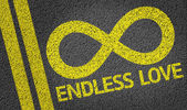 Endless Love written on the road — Stock Photo
