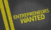 Entrepreneurs Wanted written on the road — Stock Photo