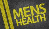 Mens Health written on the road — Stock Photo