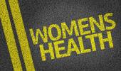 Women's Health written on road — Stock Photo