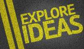 Explore Ideas written on the road — Stock Photo