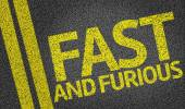 Fast and Furious written on the road — Stock Photo