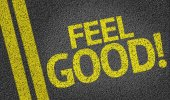 Feel Good written on the road — Photo