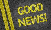 Good News! written on the road — Stock Photo