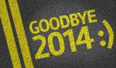 Goodbye 2014 :) written on the road — Stockfoto