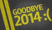 Goodbye 2014 :( written on the road — Stockfoto