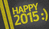 Happy 2015 written on the road — Stock fotografie