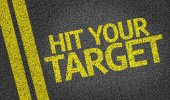 Hit your Target written on the road — Stock Photo