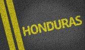 Honduras written on the road — Stock Photo