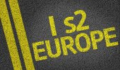 I s2 Europe written on the road — Stock Photo