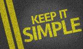 Keep It Simple written on the road — Zdjęcie stockowe