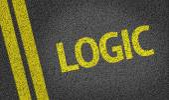 Logic written on the road — Stock Photo