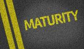 Maturity written on the road — Stock Photo