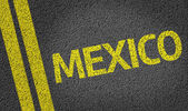 Mexico written on the road — Stock Photo