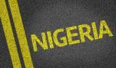 Nigeria written on the road — Stock Photo