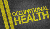 Occupational Health written on the road — Stock Photo
