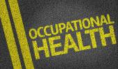Occupational Health written on the road — Stockfoto