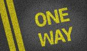 One Way written on the road — Stock Photo