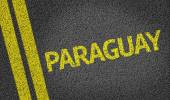 Paraguay written on the road — Stock Photo