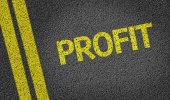 Profits written on the road — Foto de Stock