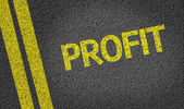 Profits written on the road — Stockfoto