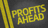 Profits Ahead written on the road — Foto de Stock