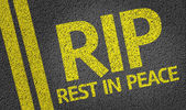 RIP - Rest in Peace - written on the road — Stock Photo