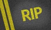 RIP  written on the road — Stock Photo