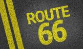 Route 66 written on the road — Stock Photo