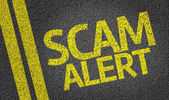 Scam warnung — Stockfoto